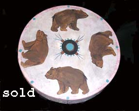 Native American Painted Drums Bears